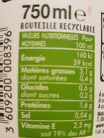 Amande nature - Informations nutritionnelles