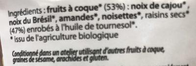 Cocktail fruits secs croustillant - Ingrediënten - fr