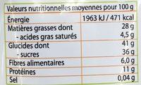 Cocktail fruits secs croustillant - Voedingswaarden - fr