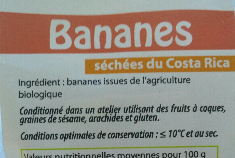 Bananes sèches - Ingredients