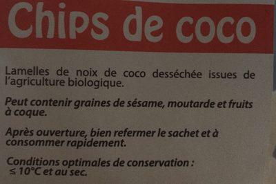 Chips de coco - Ingrédients - fr