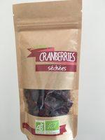 Cranberries séchées - Produit - fr