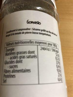 Gomasio - Ingrédients - fr