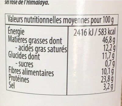Gomasio - Informations nutritionnelles - fr