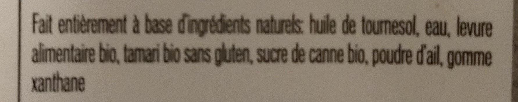 sauce dragon - Ingrédients