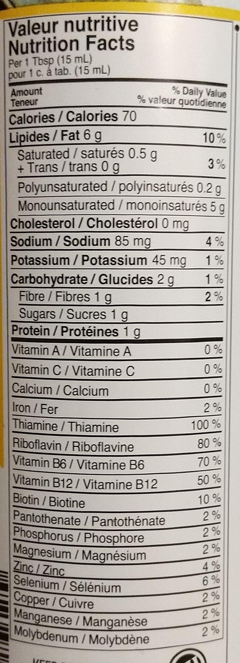 sauce dragon - Informations nutritionnelles