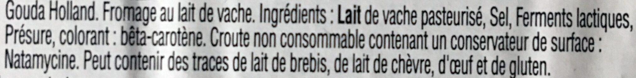 Apéritif Gouda affiné - Ingrediënten - fr