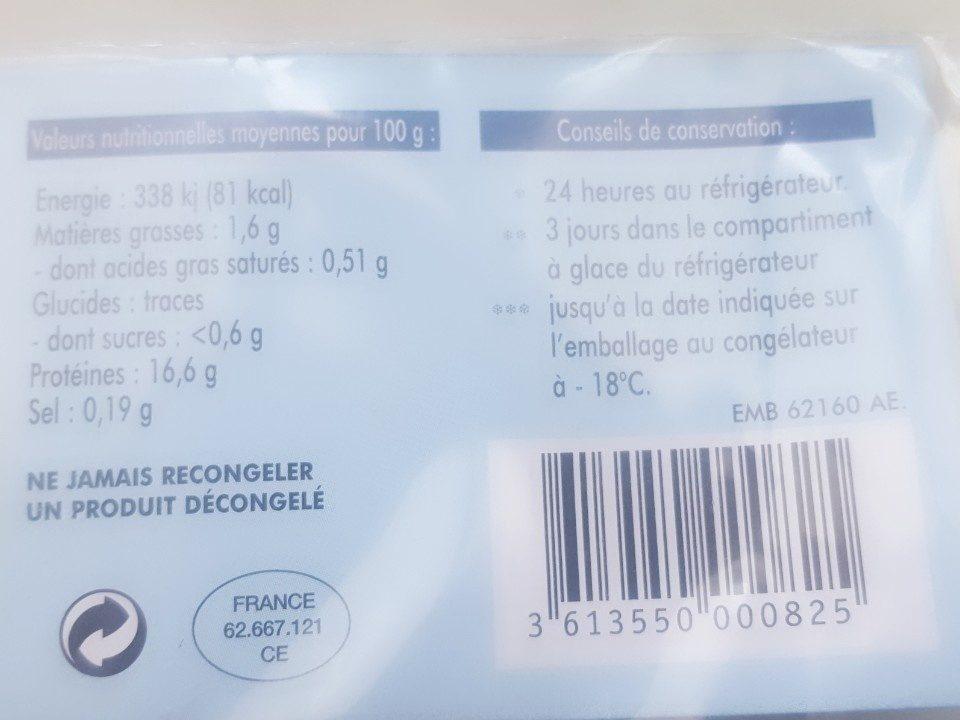 Darne de merlu blanc - Ingrédients