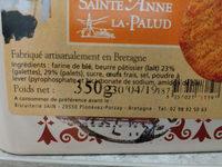 Petites galettes - Ingredienti - fr