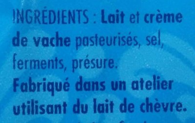 Le Mottin Charentais - Ingredients