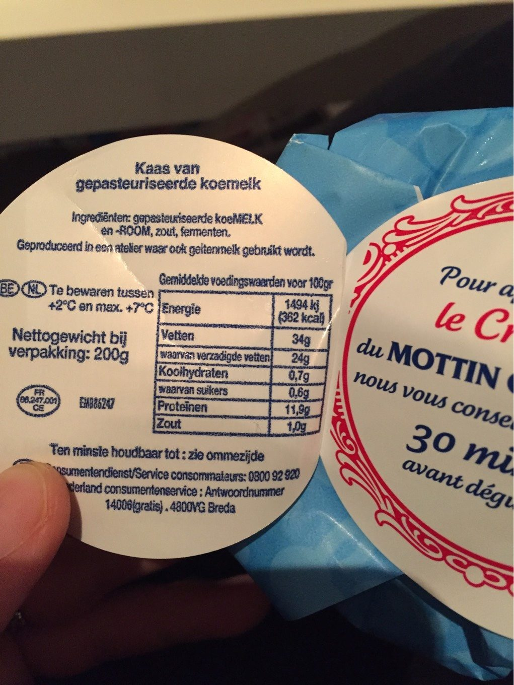 Le Mottin Charentais - Nutrition facts