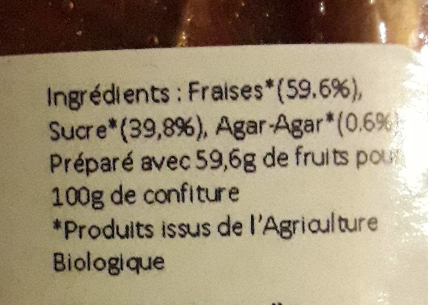 Confiture de fraise - Ingrediënten - fr