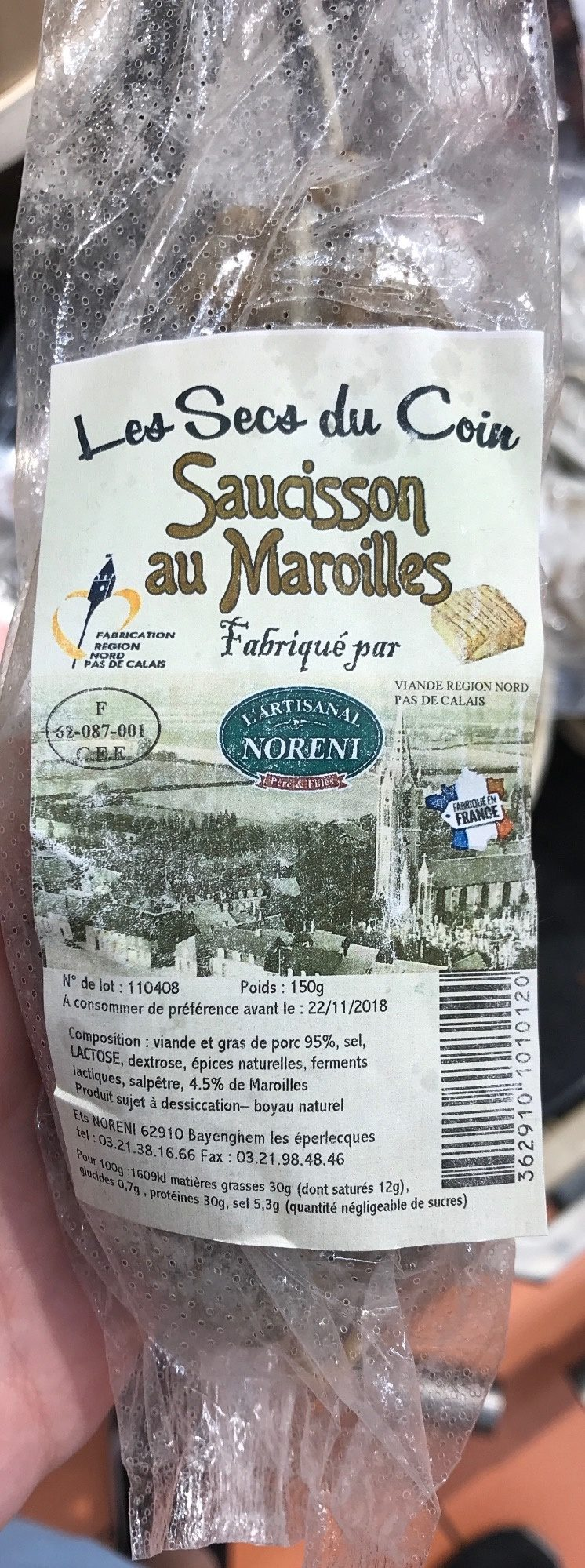 Les Secs Du Coin Saucisson Au Maroilles Lartisanal Noreni