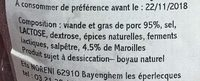 Les secs du Coin Saucisson au Maroilles - Ingrediënten