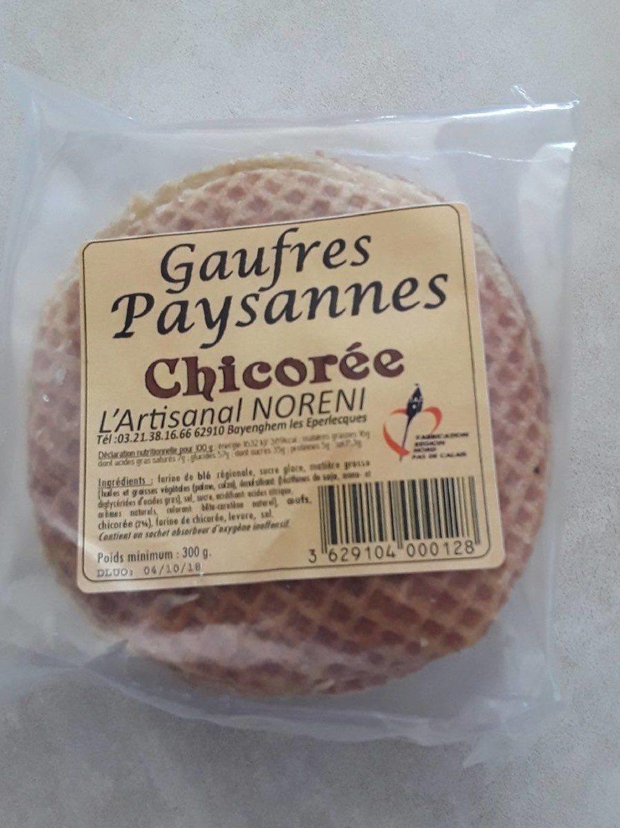 Gaufres Paysannes Chicorée - Produit