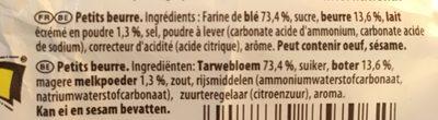 Veritable Petit Beurre - Ingredients