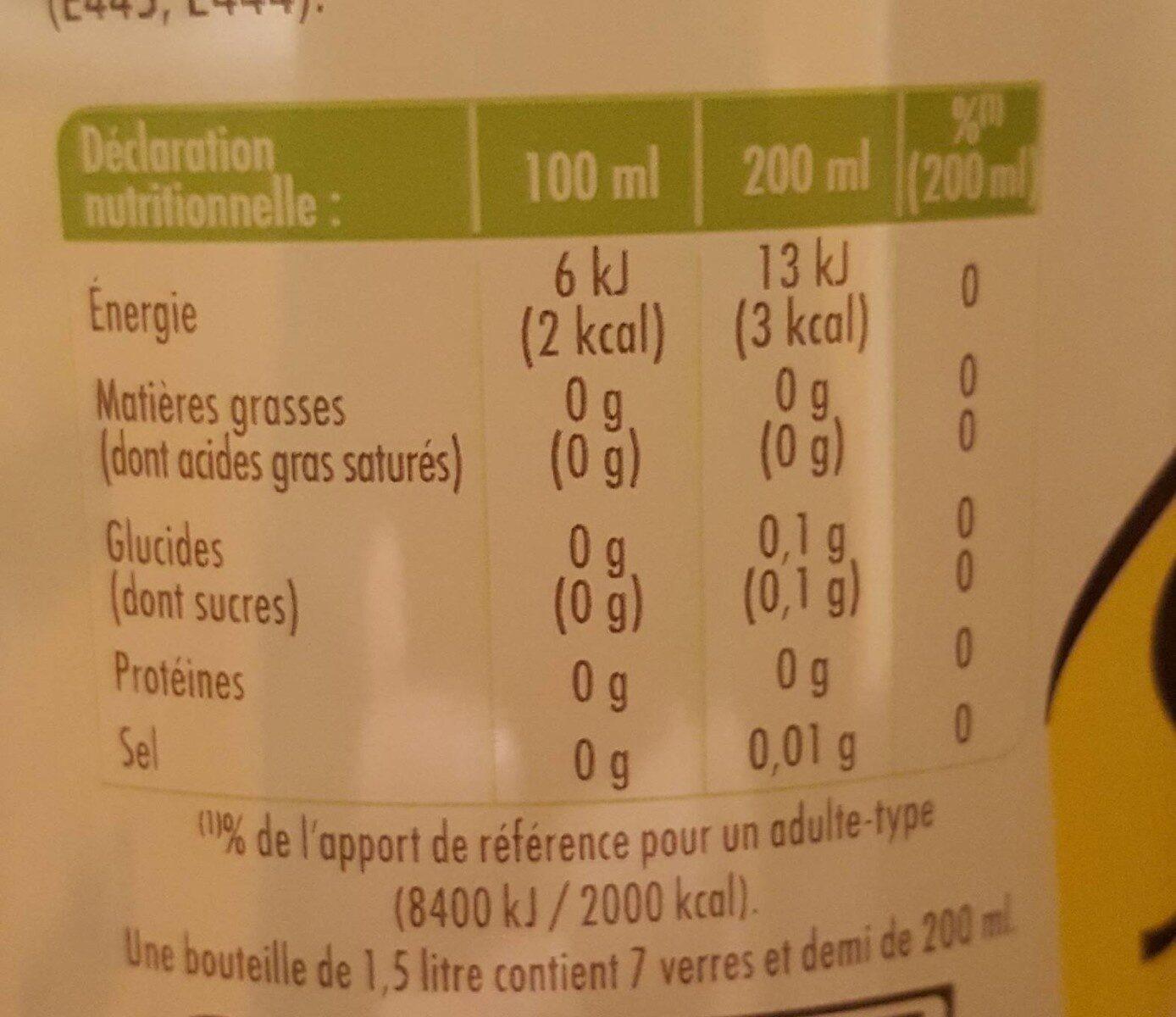 Schweppes lemon zero - Informations nutritionnelles - fr