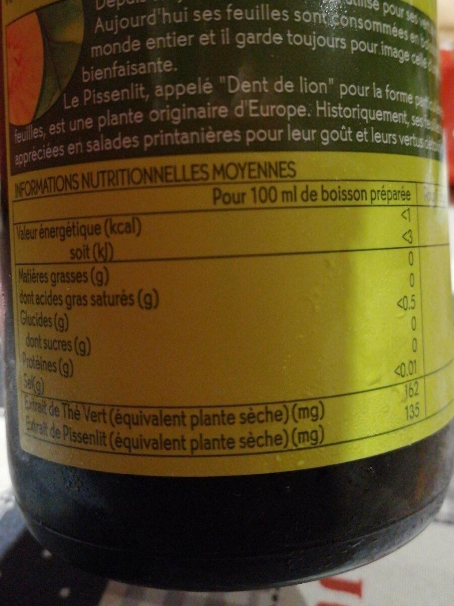 Defiligne - Valori nutrizionali - fr
