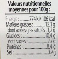Brandade de morue parmentiere - Informations nutritionnelles - fr