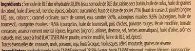 Tajine de poulet et semoule - Ingrédients