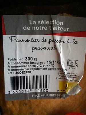 Parmentier de poisson à la Provençal - Produit - fr