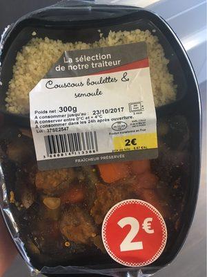 Couscous boulettes semoule - Produit - fr
