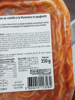 Filet de volaille à la viennoise et serpentini COLLET - Produit - fr