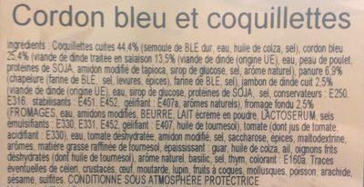 Cordon bleu et coquillettes - Ingrédients - fr