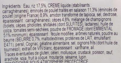 Risotto de poulet - Ingrédients - fr