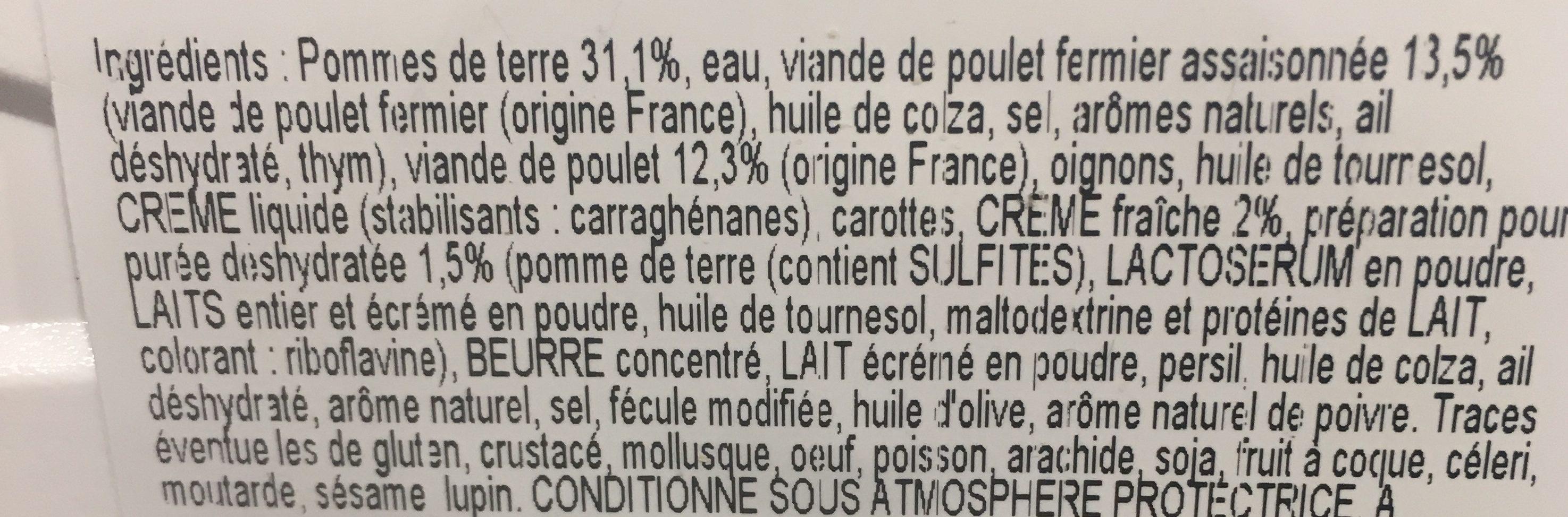 Parmentier au poulet fermier - Ingrédients - fr
