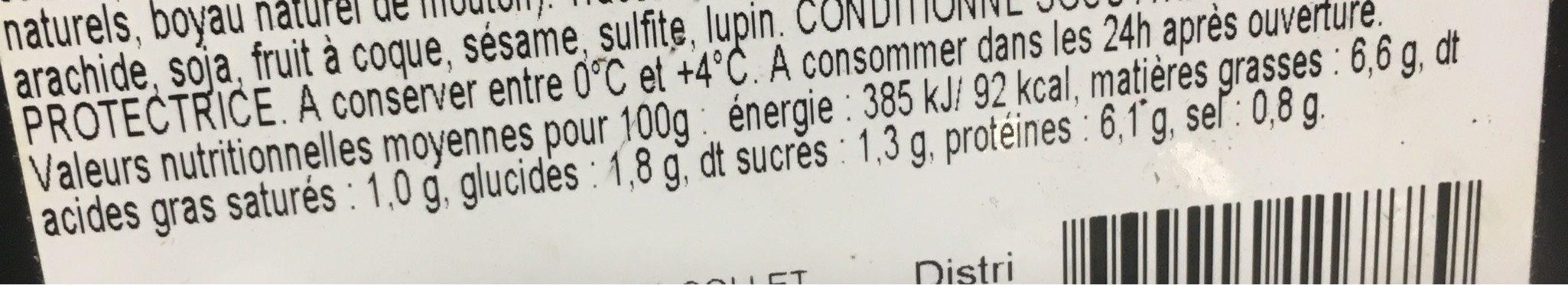 Couscous viande et semoule - Informations nutritionnelles - fr