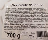 Choucroute de la mer - Informations nutritionnelles - fr