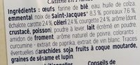 Cake aux noix de saint-jacques et aux petits légumesde - Ingrediënten