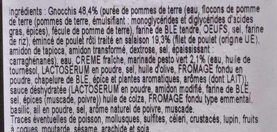 Émincés de Poulet et Gnocchi au Pesto - Ingrédients
