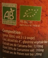 Curcuma Bio Extra-fort - 500 ML - Dr Theiss - Ingrediënten