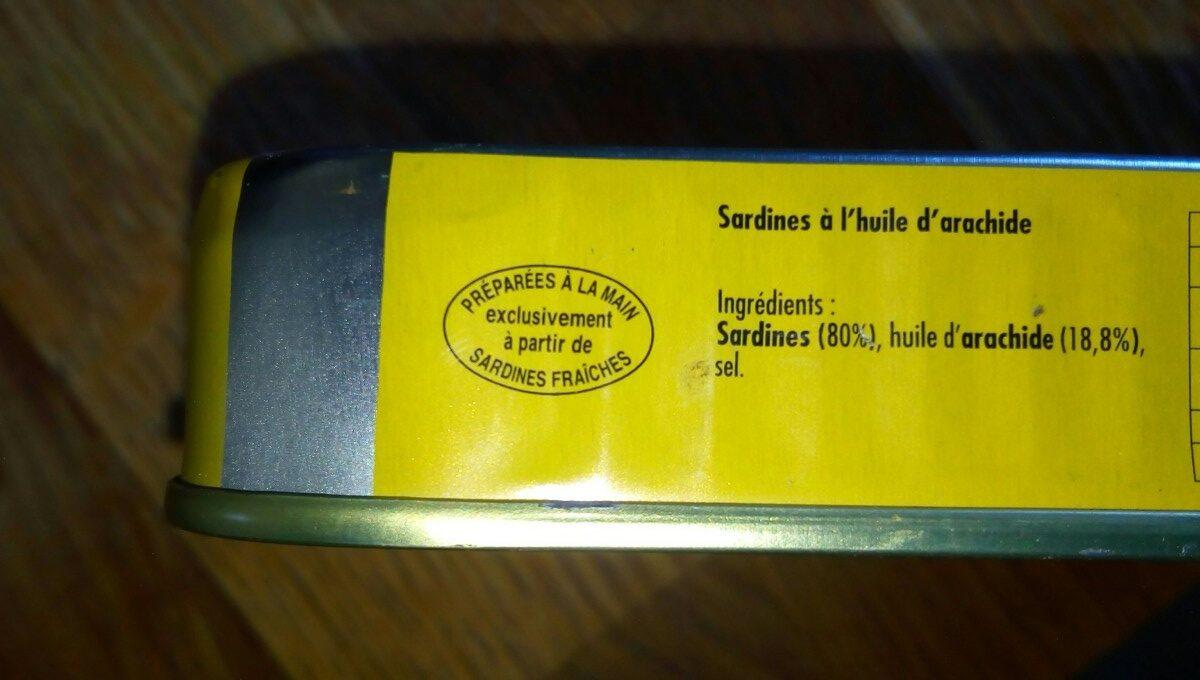 Sardine huile arachide - Ingrédients - fr