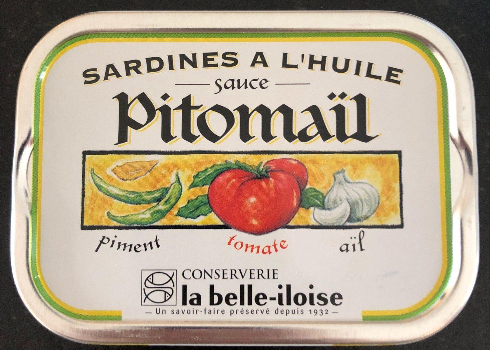Sardines à l'huile sauce Pitomaïl - Produit