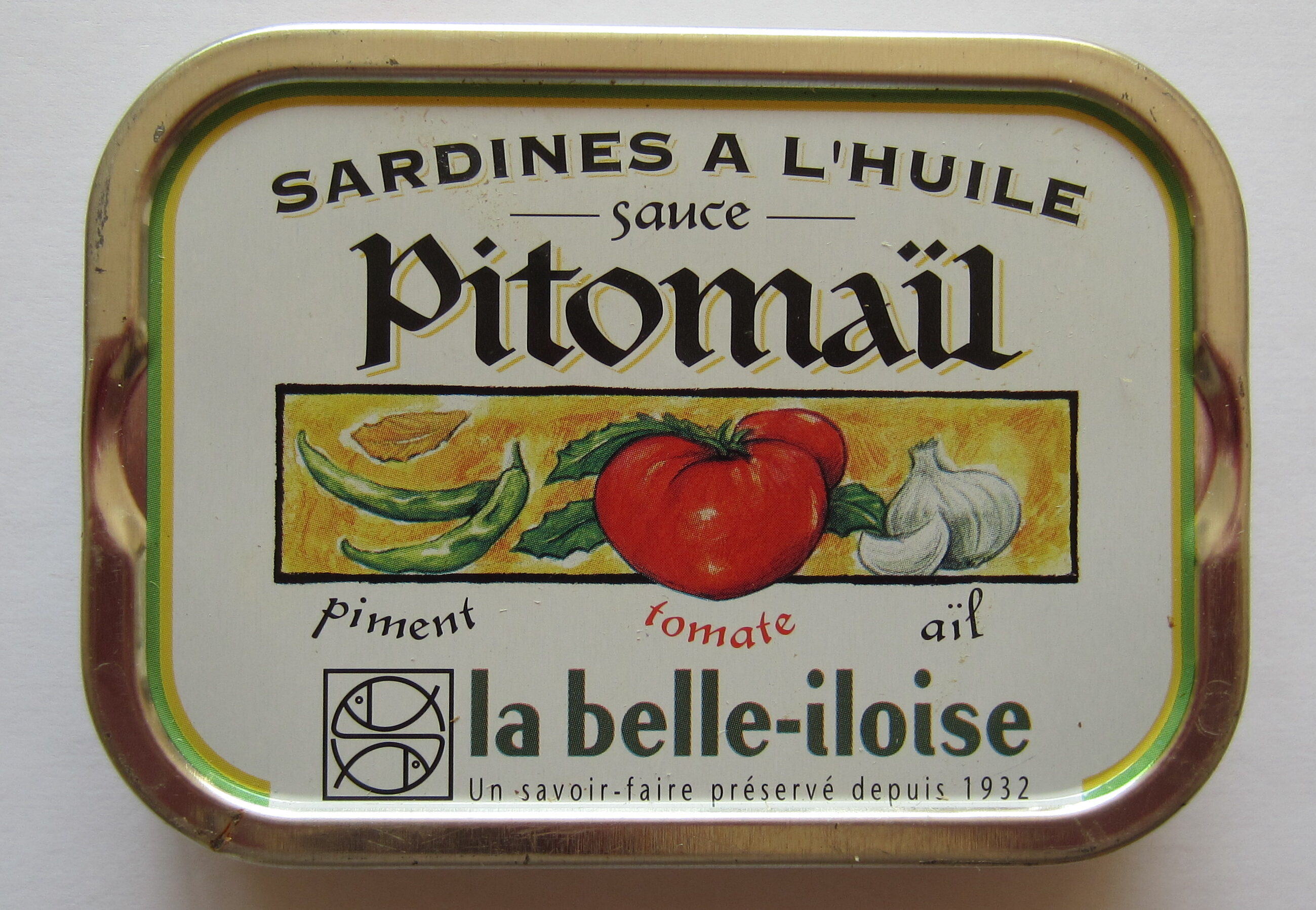 Sardines à l'huile, sauce Pitomaïl - Product - fr