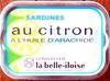 Sardines au citron à l'huile d'arachide - Produit