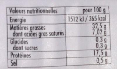 Sardines au citron à l'huile d'arachide - Voedingswaarden - fr