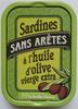 Sardines sans arêtes à l'huile d'olive vierge extra - Produit