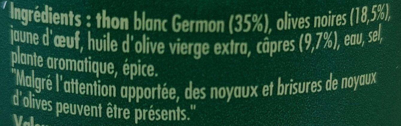 Thoïonade - Ingrédients - fr