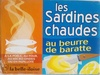Les sardines chaudes au beurre de baratte - 115 g - Produit