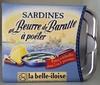 Sardines au beurre de baratte à poêler - Produit
