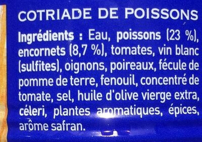 Cotriade de poisson - Ingredienti - fr