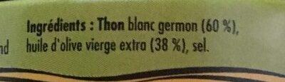 Emietté de thon a l'huile d'olive vierge extra - Ingrediënten