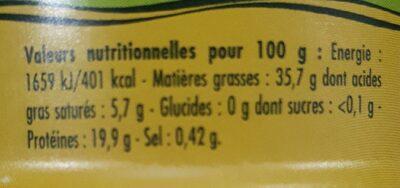 émietté de thon a l'huile d'olive vierge extra - Valori nutrizionali - fr