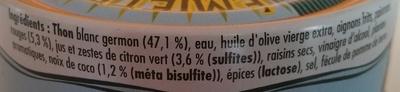 émietté de thon à la marie-galante - Ingredients