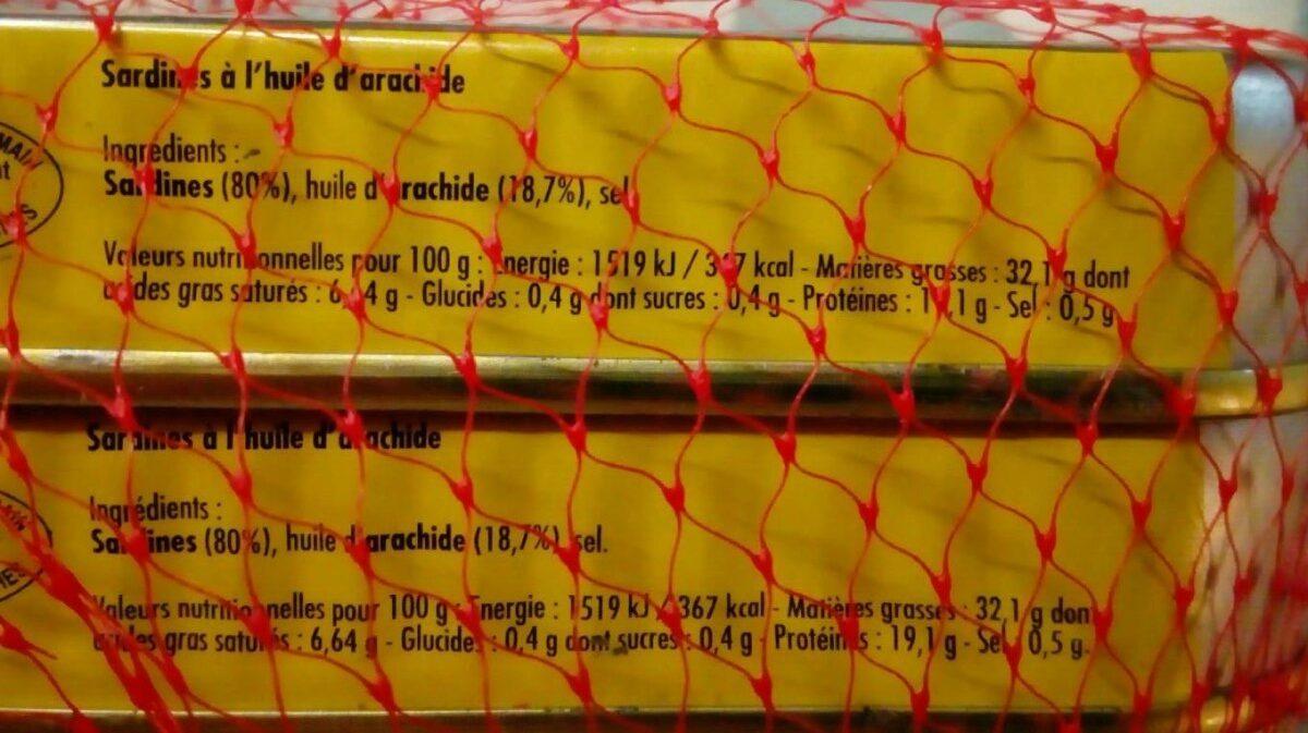 Sardines à l'huile d'arachide - Informazioni nutrizionali - fr