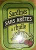 Sardines sans arêtes à l'huile d'olive vierge extra - Product